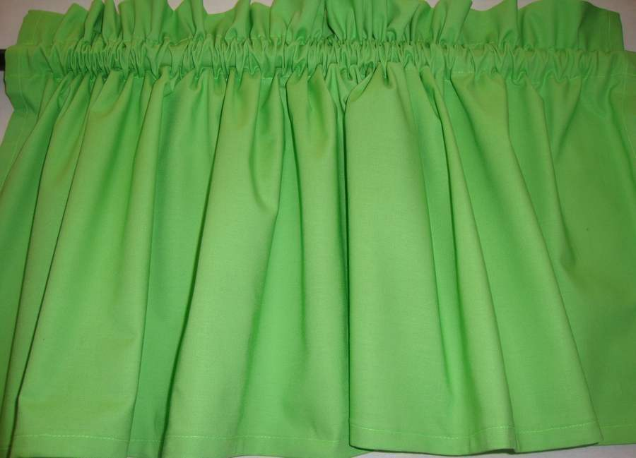 Lime Green Chartreuse Valance Custom Made For Any Room Ebay
