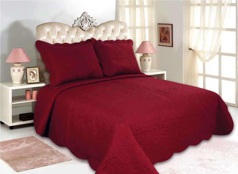 12 All For You 3pc Quilt Set Bedspread And Coverlet Set
