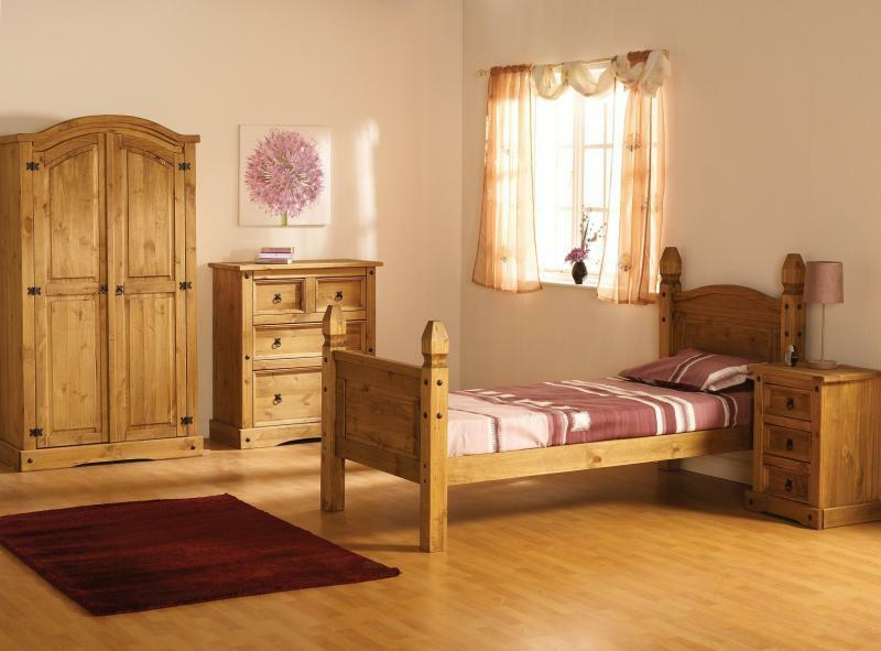 corona pine bedroom mexican solid pine furniture wardrobe bed chest of