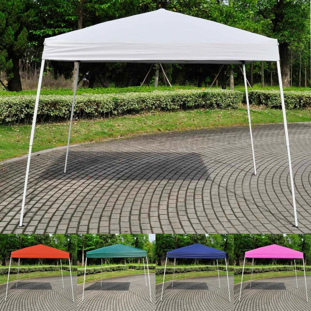 10 x10 ez pop up wedding party tent folding gazebo beach. Black Bedroom Furniture Sets. Home Design Ideas