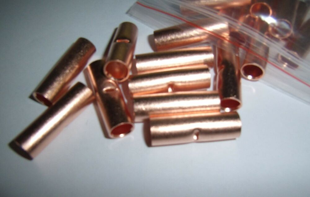 2 Copper 4 Awg Car Power Ground Wire Butt Connector
