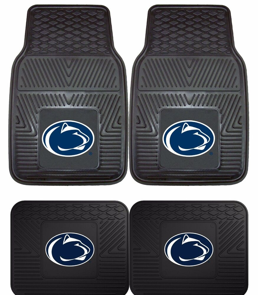Penn State Nittany Lions Heavy Duty Floor Mats 2 Amp 4 Pc
