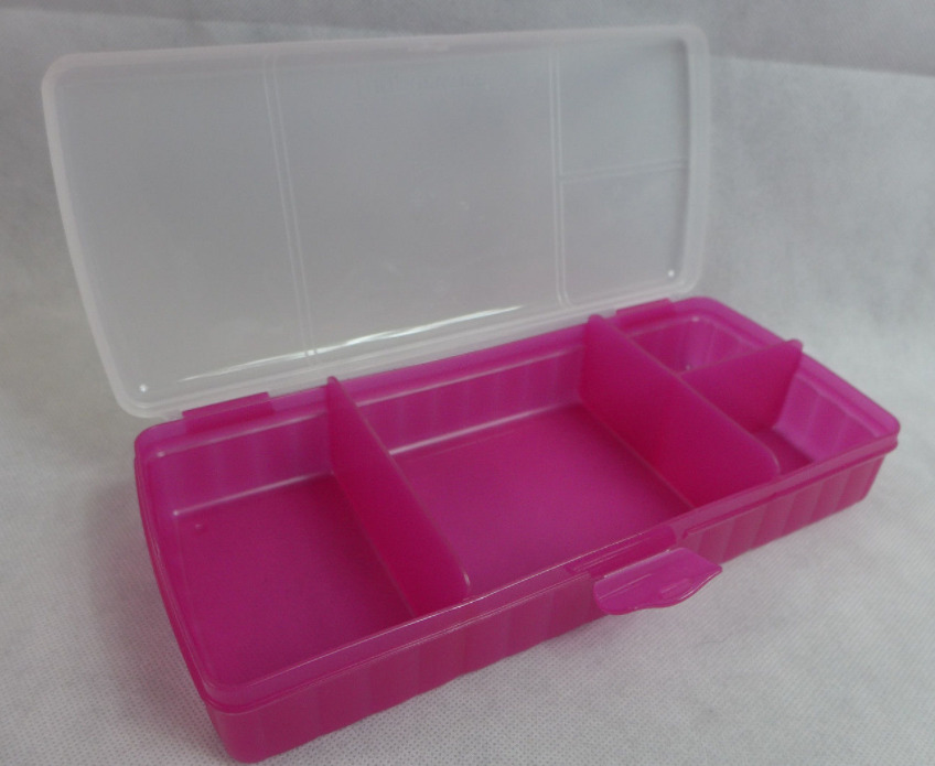 tupperware lunch 39 n things divided lunch container on the go pink bpa free new ebay. Black Bedroom Furniture Sets. Home Design Ideas