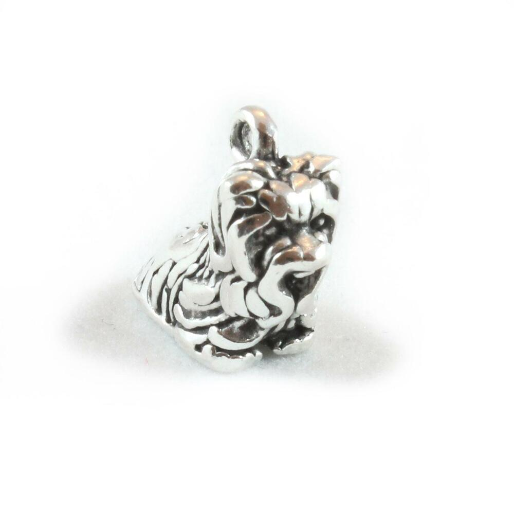 Yorkshire Terrier Dog Charm - Sterling Silver Charms Yorkie   eBay