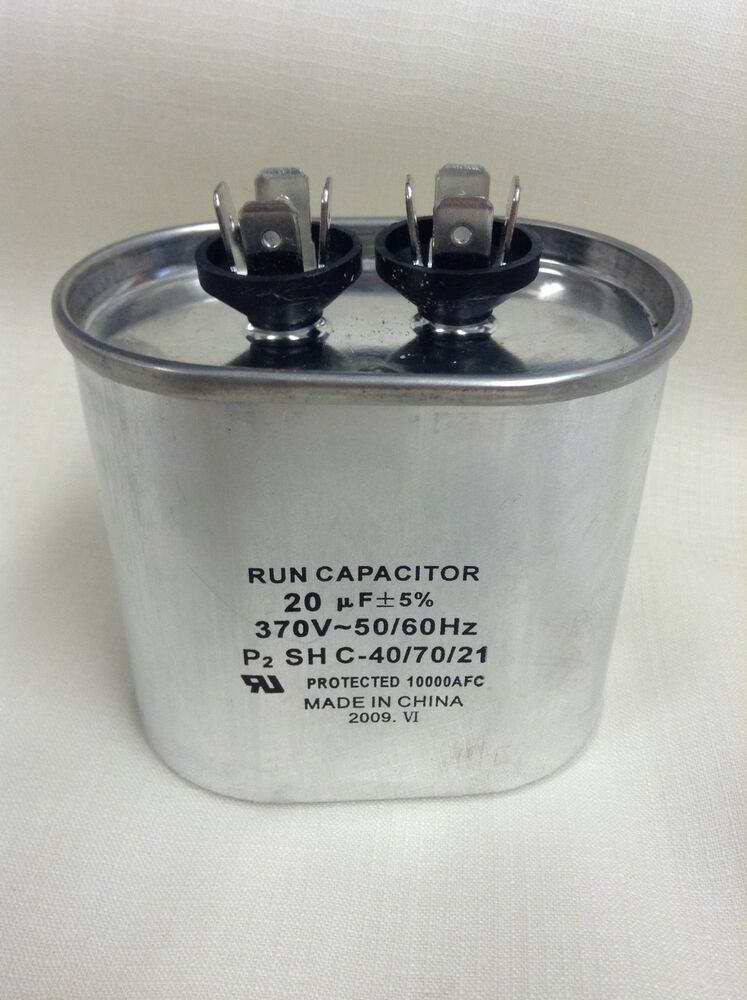 Lot of 50 supco oval run capacitor cr20x370 20 mfd x 370 for 370 volt 10 mfd motor run oval capacitor