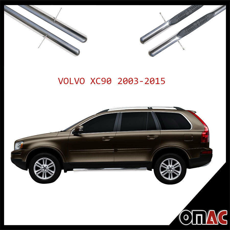 trittbretter seitenschweller 70mm v2a edelstahl f r volvo xc90 2003 2015 ebay. Black Bedroom Furniture Sets. Home Design Ideas