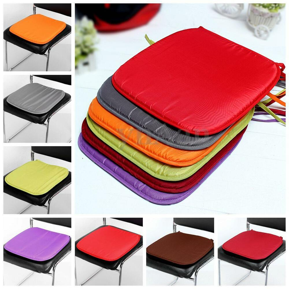 dining garden patio chair seat pads cushion pads multi colors tie 37 x 37 x 2cm ebay. Black Bedroom Furniture Sets. Home Design Ideas