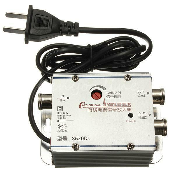 Cable Tv Signal Amplifier : Way signal booster cable amplifier tv vcr antenna