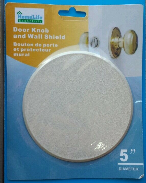 5 Round Wall Protector Door Knob Hole Cover Shield