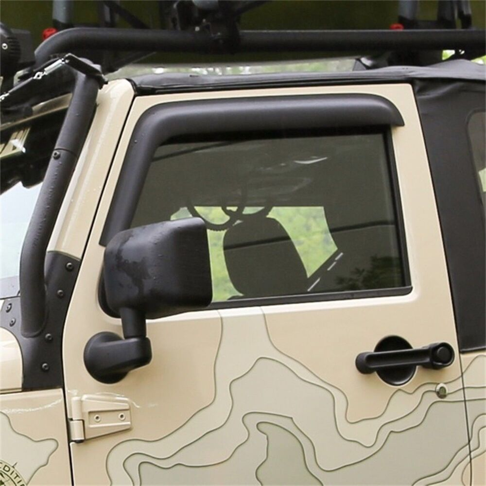 Jeep Wrangler Rain Cover >> Matte Black Window Rain Deflectors Jeep Wrangler JK 2007 ...
