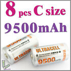 8 pcs C 9500mAh Ni-MH rechargeable battery Ultracell