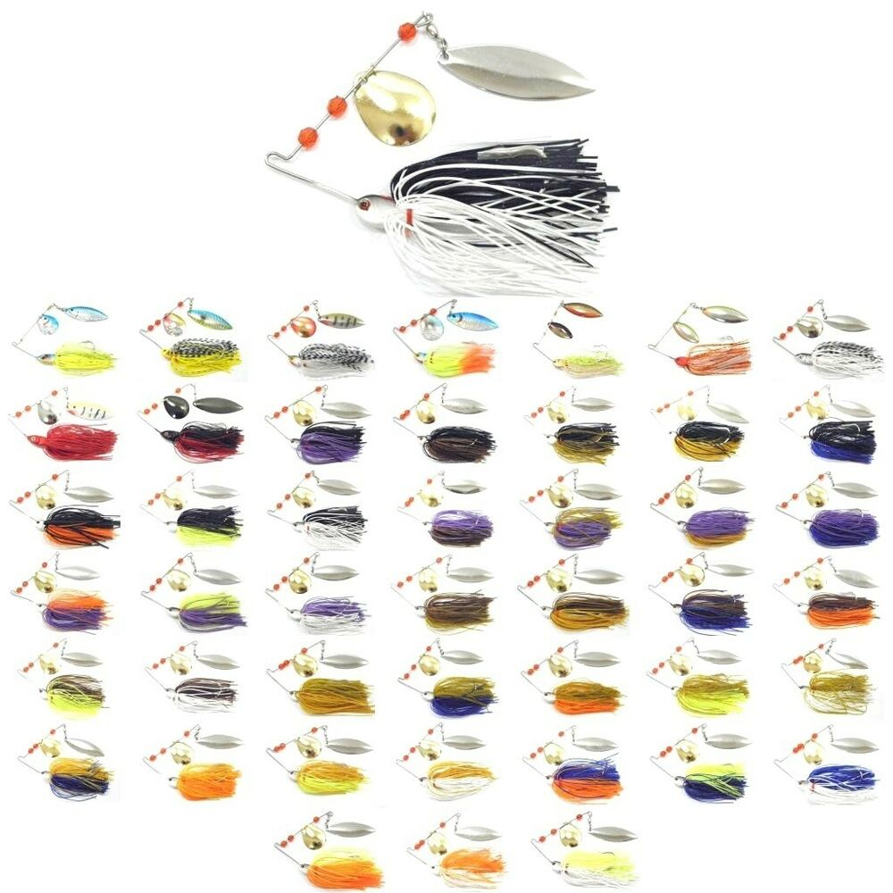 1 2 oz spinnerbait fishing lures hugh colors selection for for Spinnerbait bass fishing