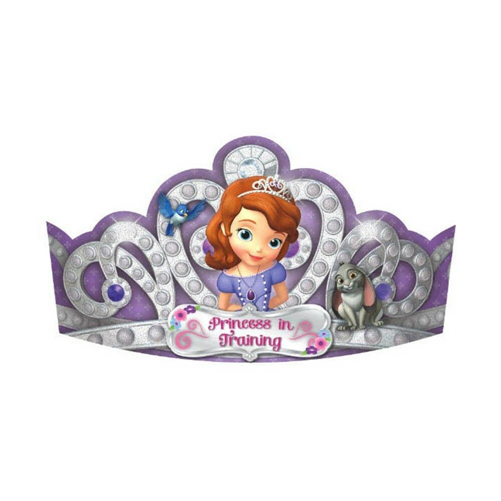 8 disney sofia the first purple birthday party princess for Sofia the first crown template