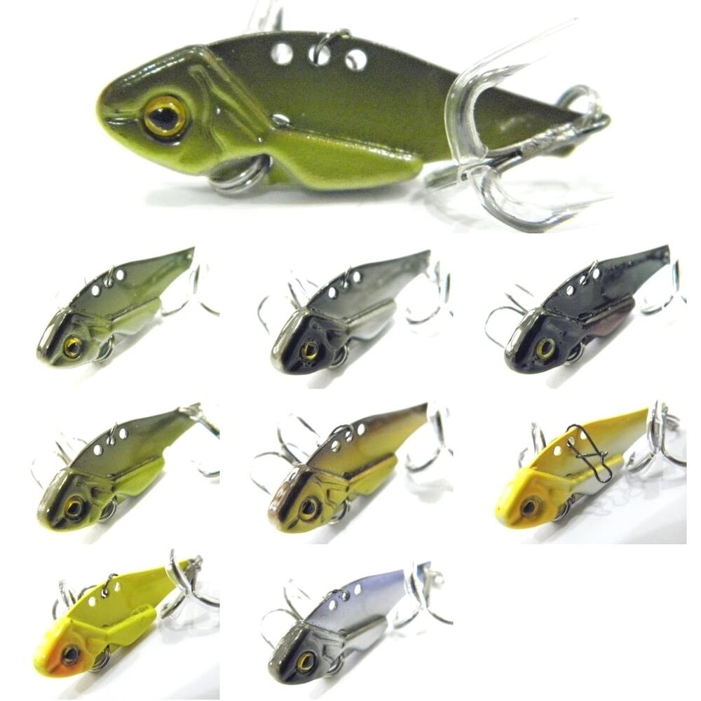 Wlure blade lure metal fishing lures for bass fishing bl3s for Ebay fishing lures