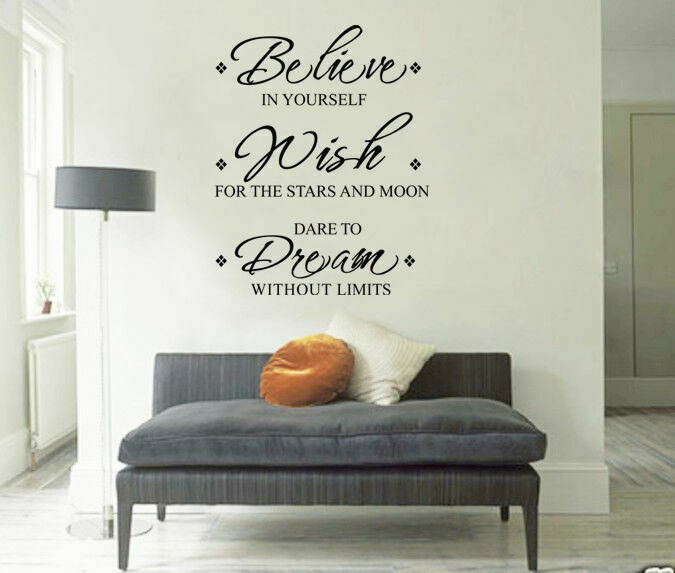 Inspirational Quot Believe Wish Dream Quot Wall Stickers Removable