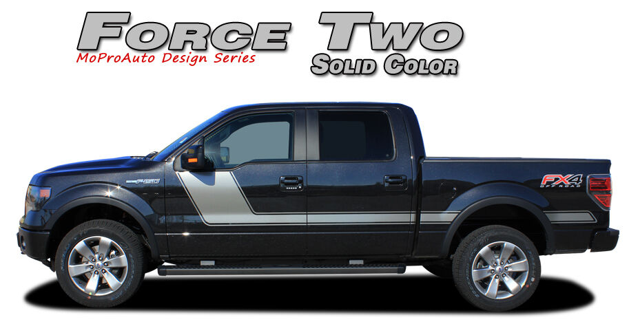 Force Two Solid Side Hockey Decals Stripes Vinyl Graphics ...