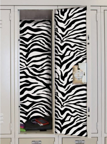 School Locker Black Zebra Skin Decal Peel Amp Stick