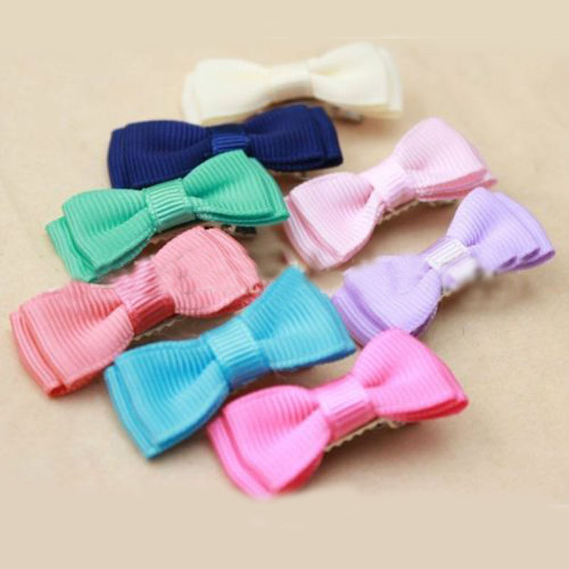 14x lovely cute nice baby girls kids bow hair clips for Decoration clips