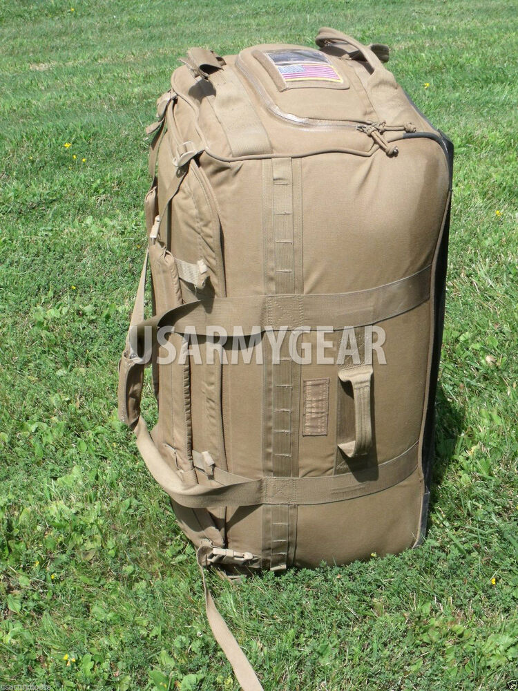 Usmc Force Protector Gear Deployer 75 Usgi Deployment Bag On Wheels Coyote Brown Ebay