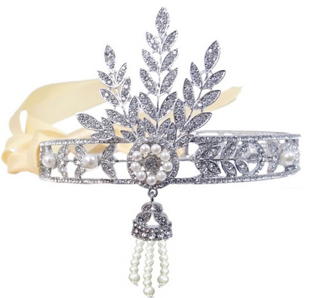 GREAT GATSBY 1920s FLAPPER HEADPIECE DAISY INSPIRED REPLICA BRIDAL ...