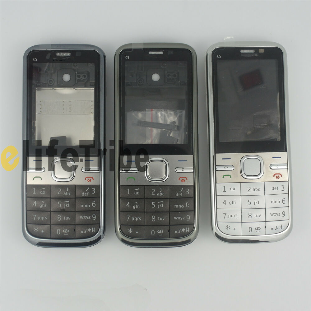 new full housing cover case with keypad for nokia c5 c5 00. Black Bedroom Furniture Sets. Home Design Ideas