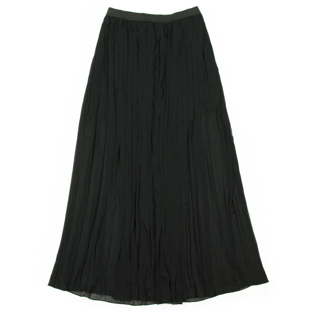 new ichi caat maxi style pleated black sheer going
