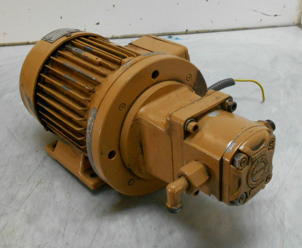 Hauknecht ac pump motor and pump tf 101 for Used electric motor shop equipment for sale