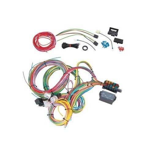 summit wiring harness 18 circuit gm column front mount fuse block spade fuse ebay