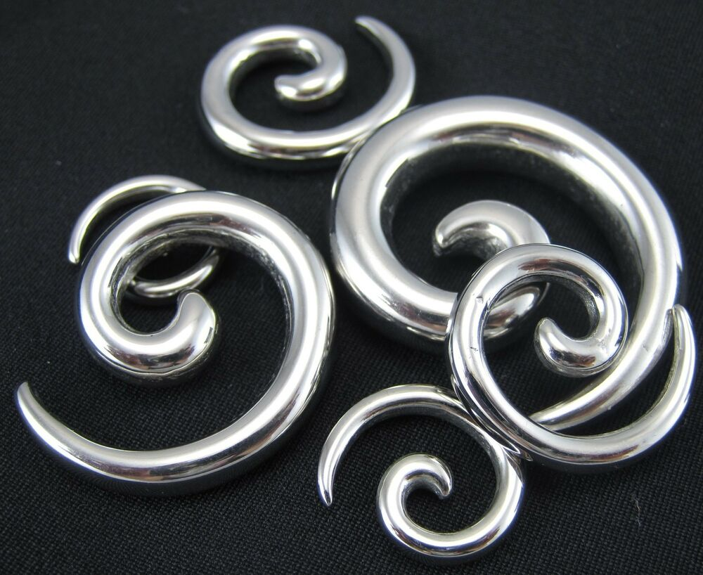 Pair spiral surgical stainless steel taper stretchers