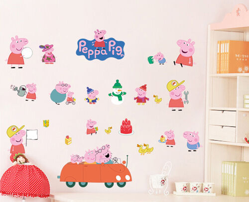 Peppa Pig Wall Removable Stickers Nursery Kids Baby