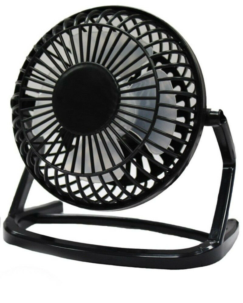 5 Inch Silent Desk Fan Mains Or Usb Electric Powered Quiet