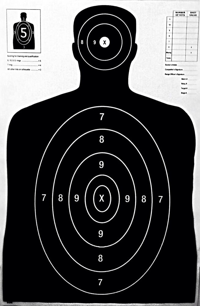 "Silhouette Shooting Targets 23"" X 35"" Official Police Size ... Police Shooting Target"