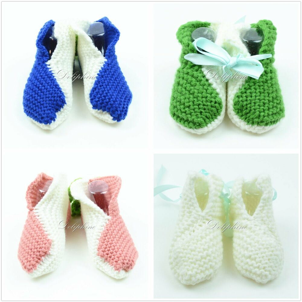 Baby Knitting Shoes Products : Crochet baby booties shoe knitting shoes for girls