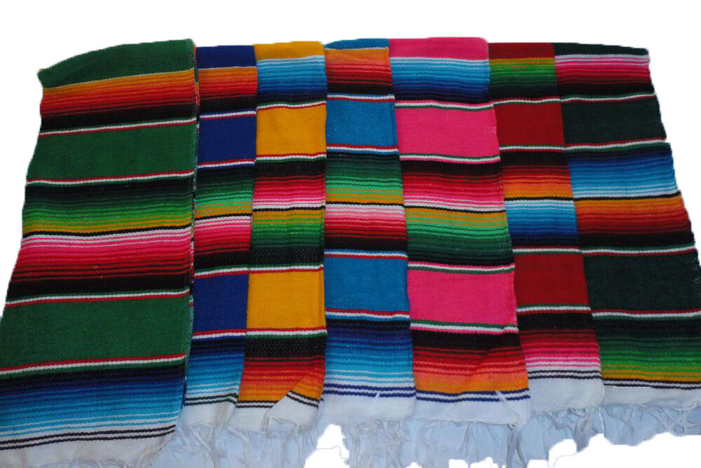 29 X 14 3 4 Inches Sarape Serape Mexican Saltillo