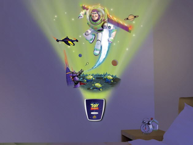 Toy Story Wall Light : Wild Walls BUZZ LIGHTYEAR Toy Story wall stickers 10 decals with LIGHT & SOUNDS eBay