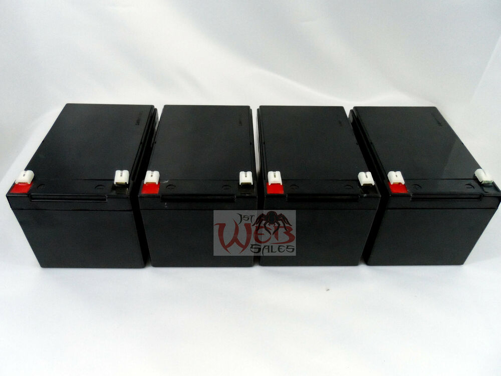 4 pack 12v 12 volt 12ah sla sealed lead acid batteries for. Black Bedroom Furniture Sets. Home Design Ideas