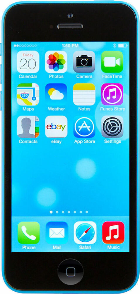 at t iphone 5c new in box apple iphone 5c 16gb blue at amp t locked 2535