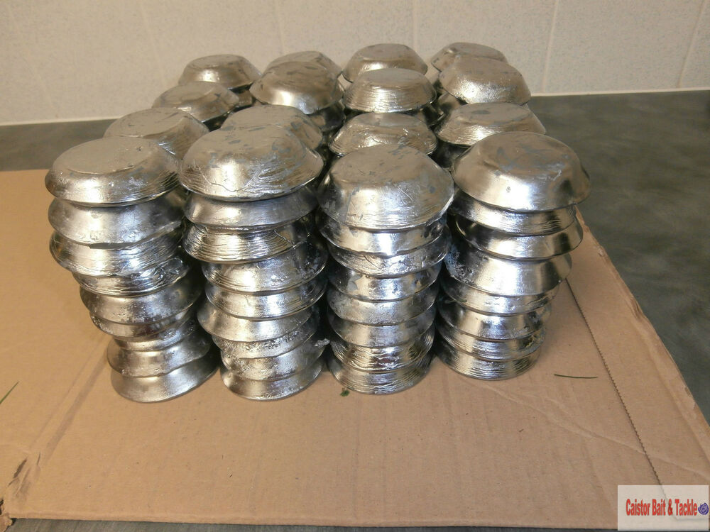 Lead ingots for fishing weight sinkers pre cleaned and for Inline fishing weights
