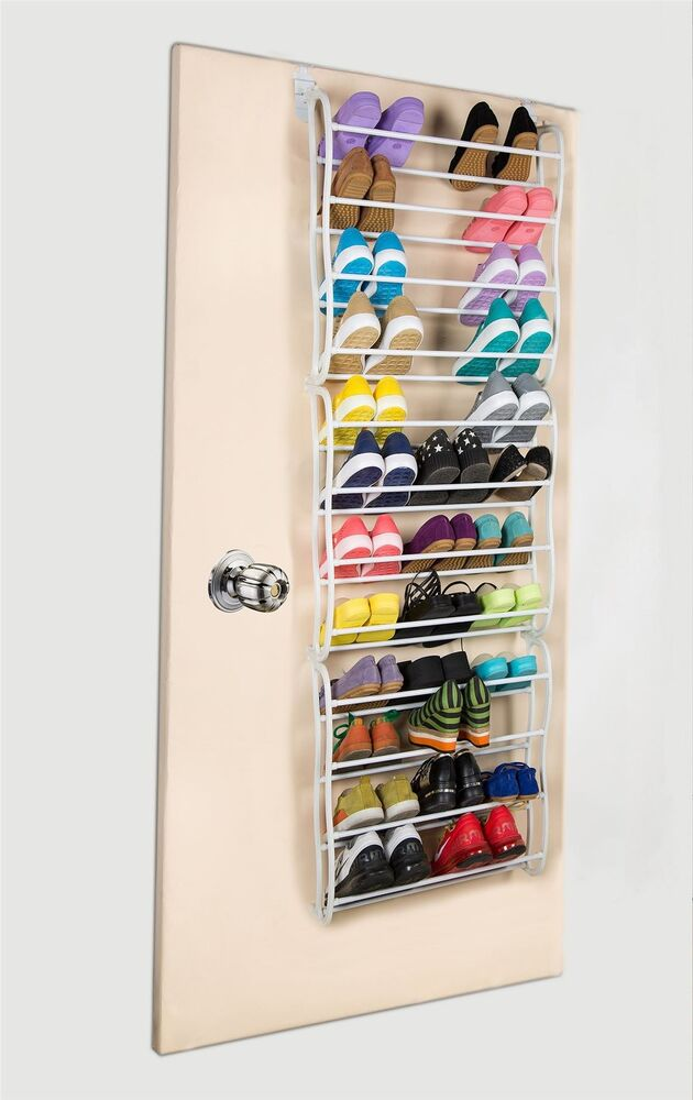 36 pair over the door hanging shoe rack 12 tier shoe rack organiser stand ebay. Black Bedroom Furniture Sets. Home Design Ideas