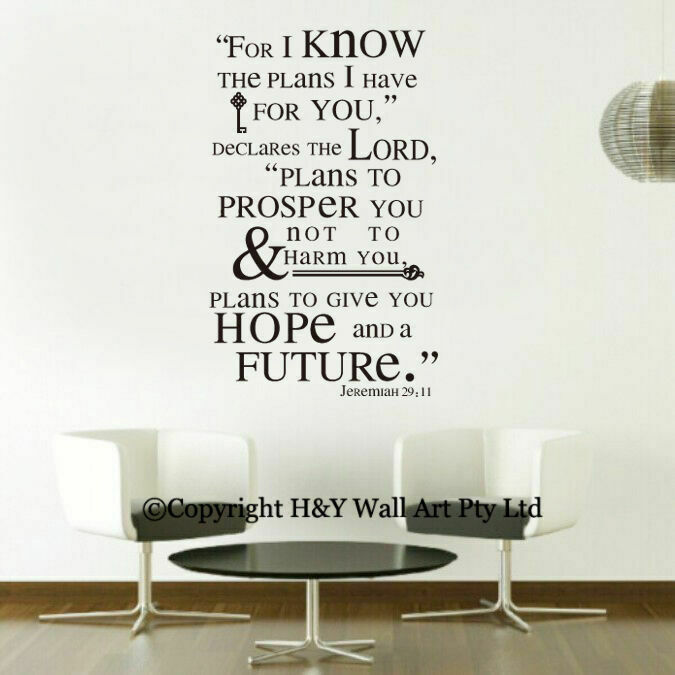 Plans I Have Christian Wall Art Quote Removable Decal