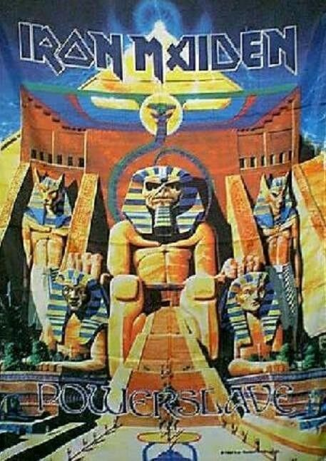 iron maiden powerslave eddie cloth poster wall flag fabric