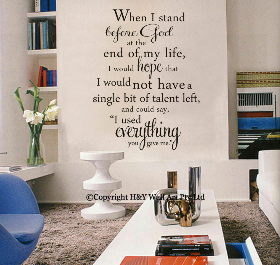 Stand before god christian wall art quote removable for Christian wall mural