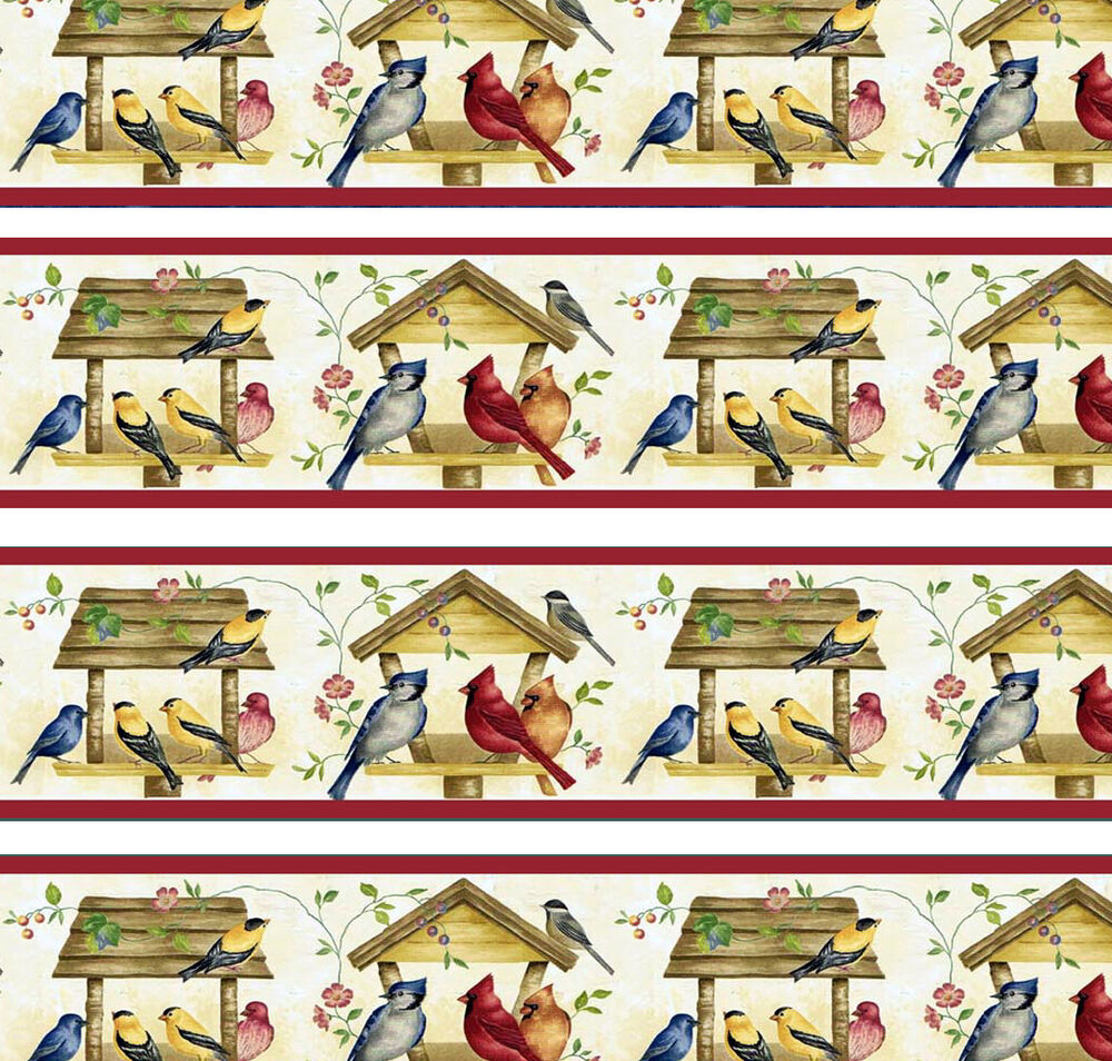 Dolls house wallpaper border 77 ins long birds quality for House wallpaper paper