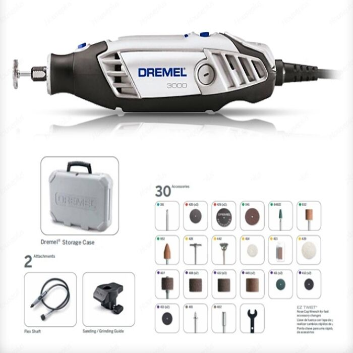 dremel 3000 2 30 series multipro sinker rotary tool kit. Black Bedroom Furniture Sets. Home Design Ideas