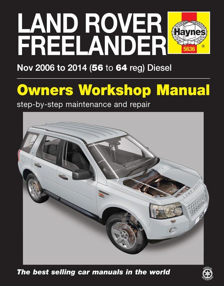 land rover freelander 2 diesel nov 2006 2014 haynes manual 5636 new ebay. Black Bedroom Furniture Sets. Home Design Ideas