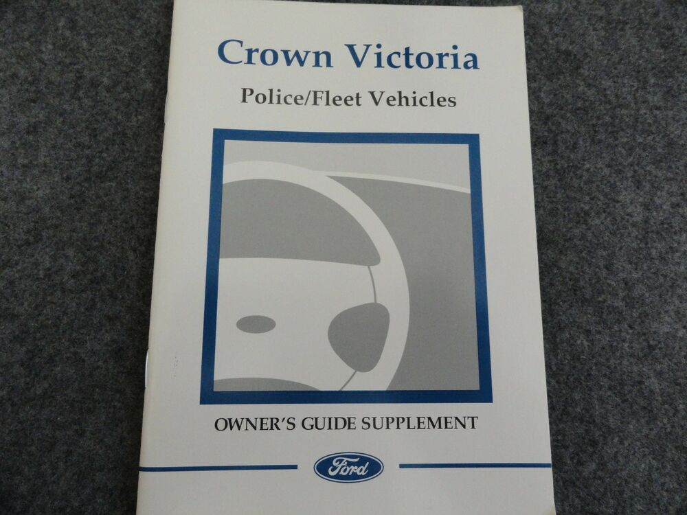 ford crown victoria police owners manual supplement