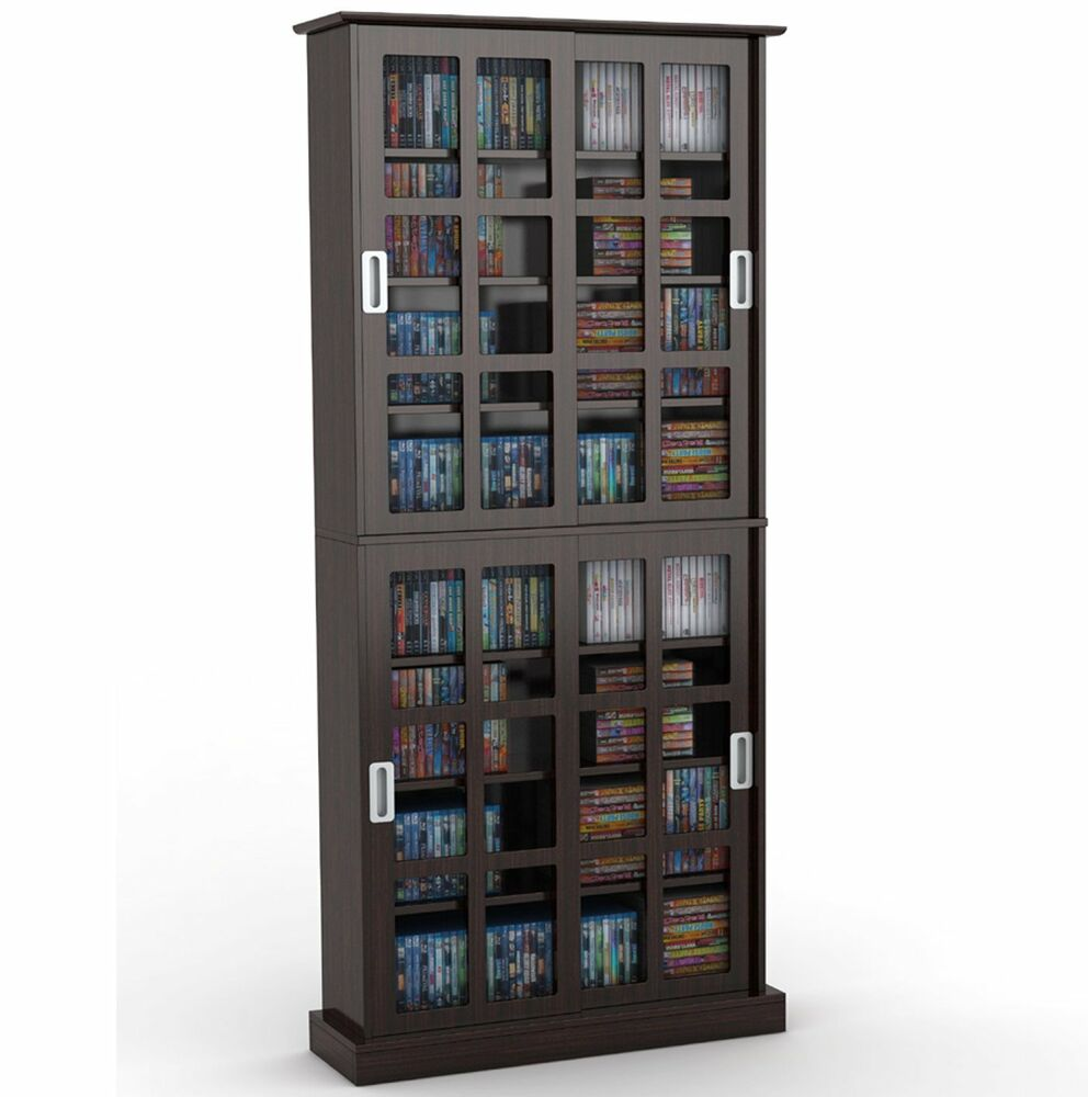 Atlantic Windowpane 720 Cd Amp Dvd Media Storage Cabinet In