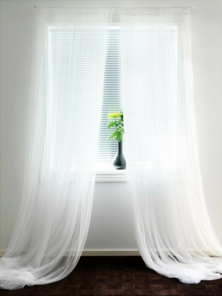 Ikea Sheer White Curtains 8 Panels Lill Bed Mesh 110 X98