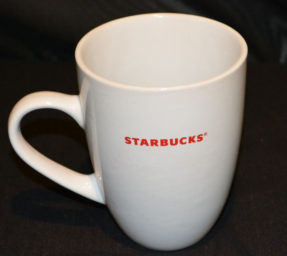 Starbucks Coffee Mug Cup Large White 15oz 2008 | eBay