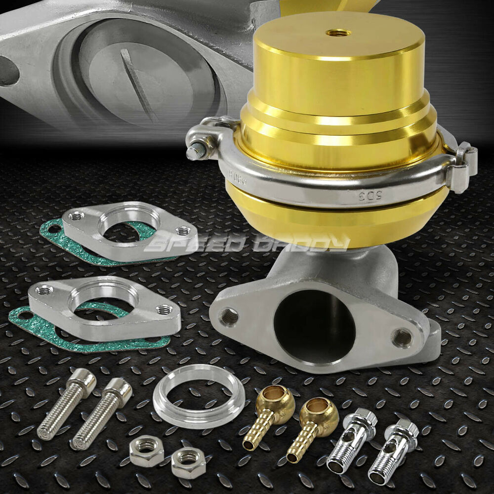 Turbo Exhaust Ring: UNIVERSAL 38MM TURBO MANIFOLD EXHAUST GOLD V-BAND EXTERNAL